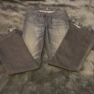 7 For All Mankind Dark Flair Jeans
